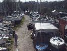 Typical view of our main riverside yard - Over 60 boats of all types  for sale in our main riverside yard all with descriptions & prices
